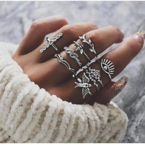 RING RUSH - 8 PCS/SET BOHEMIAN RINGS